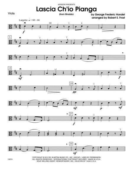 Download Lascia Ch'io Pianga (from Rinaldo) - Viola Sheet Music By