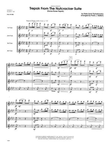Trepak From The Nutcracker Suite (Danse Russe Trepak) - Full Score