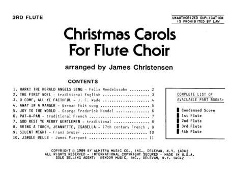 Christmas Carols For Flute Choir/Cond Score - Flute 3