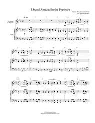 I Stand Amazed in the Presence - xylophone/marimba with piano accompaniment
