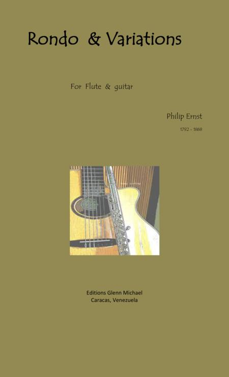 Ernst, Rondo & Variations for flute & guitar
