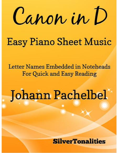 Canon in D Easy Piano Sheet Music