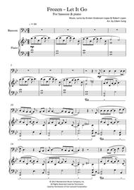 Frozen - Let It Go (for bassoon & piano, including part score)
