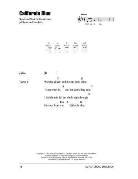 Download California Blue Sheet Music By Roy Orbison - Sheet Music Plus