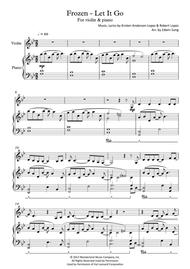 Download Frozen - Let It Go (for Violin & Piano, Including