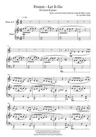 Frozen - Let It Go (for horn & piano, including part score)