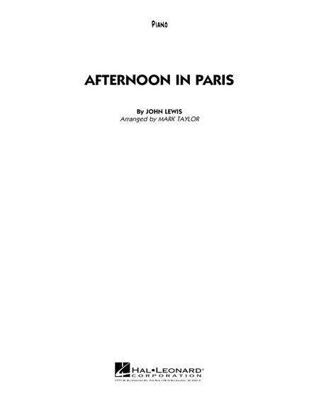 Afternoon In Paris - Piano