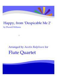 Happy, from 'Despicable Me 2' - flute quartet