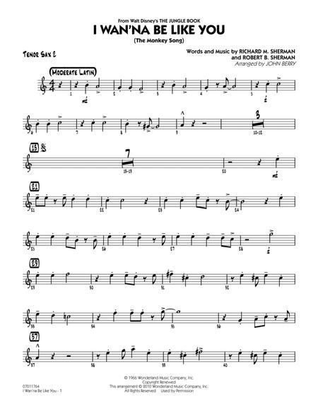 I Wan'na Be Like You (The Monkey Song) - Tenor Sax 2