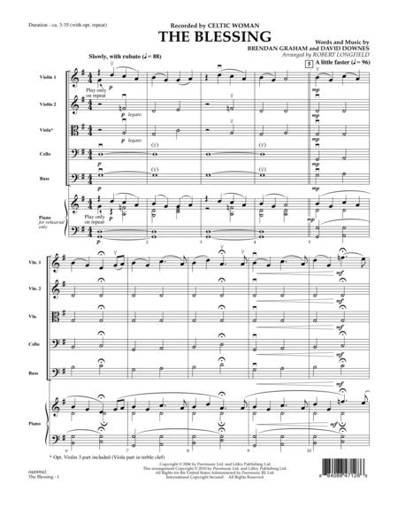 The Blessing - Full Score