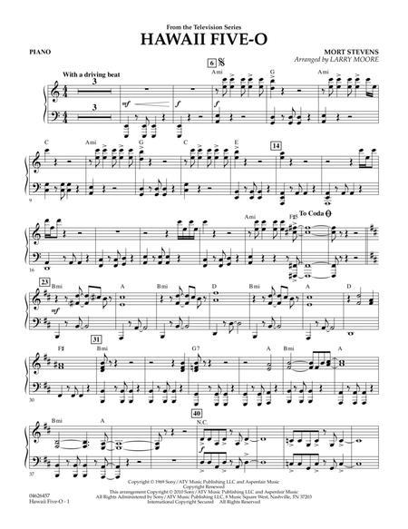 Hawaii Five-O - Piano
