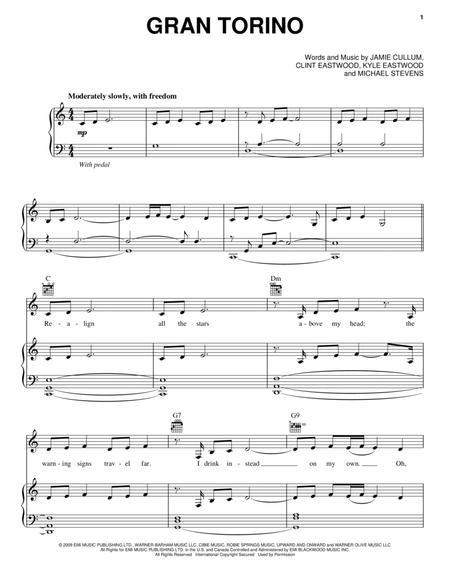 Download Gran Torino Sheet Music By Jamie Cullum - Sheet Music Plus