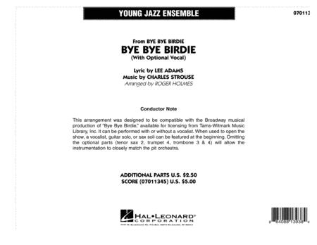 Bye Bye Birdie (w/ opt. Vocal) - Full Score
