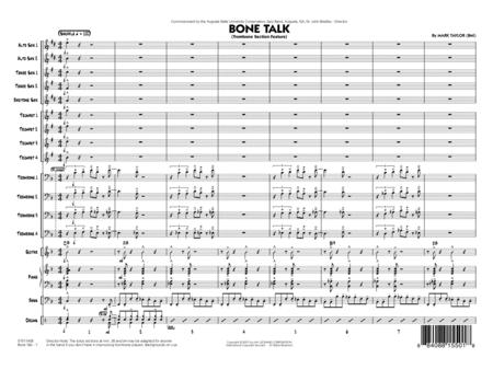 Bone Talk (Trombone Section Feature) - Full Score