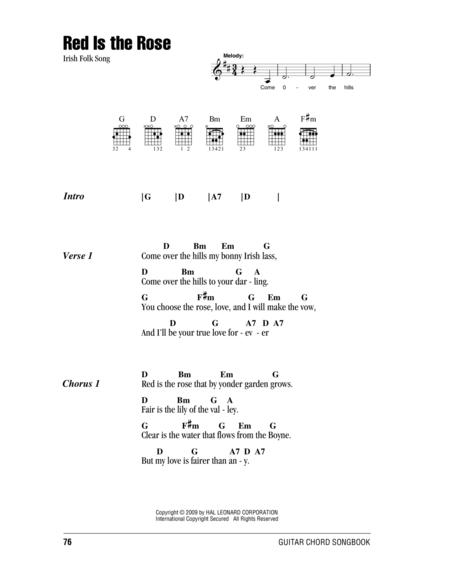 Download Red Is The Rose Sheet Music By Irish Folk Song - Sheet ...
