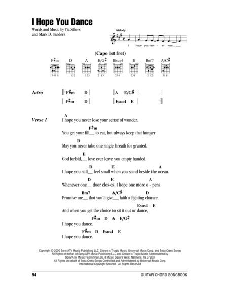 Download I Hope You Dance Sheet Music By Lee Ann Womack - Sheet ...