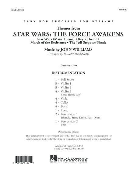 Themes from Star Wars: The Force Awakens - Conductor Score (Full Score)