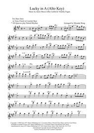 Lucky Lead Sheet In A Key Alto Saxophone Solo By Digital