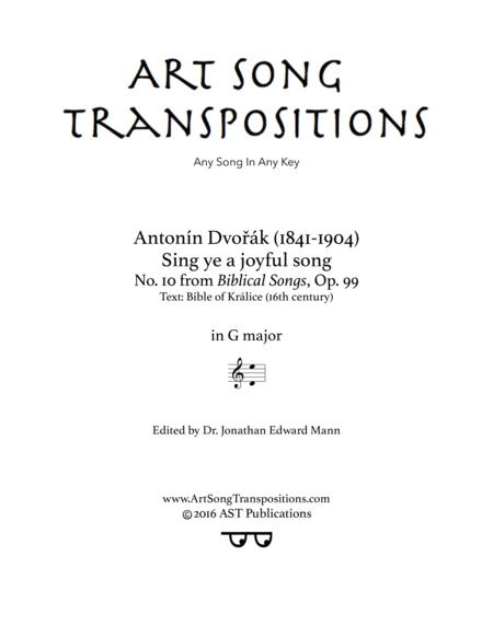 Sing ye a joyful song, Op. 99 no. 10 (G major)