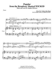 Popular from the Broadway Musical WICKED for Piano Trio