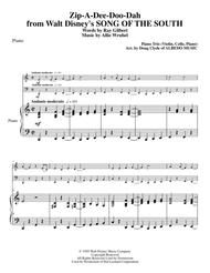 Zip-A-Dee-Doo-Dah from Walt Disney's SONG OF THE SOUTH for Piano Trio
