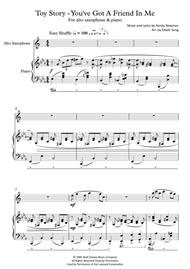 Toy Story - You've Got A Friend In Me (for alto saxophone and piano, including part score)
