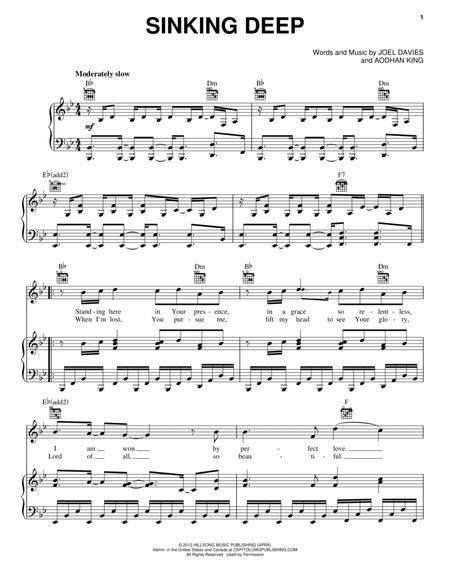 Download Sinking Deep Sheet Music By Aodhan King Sheet Music Plus