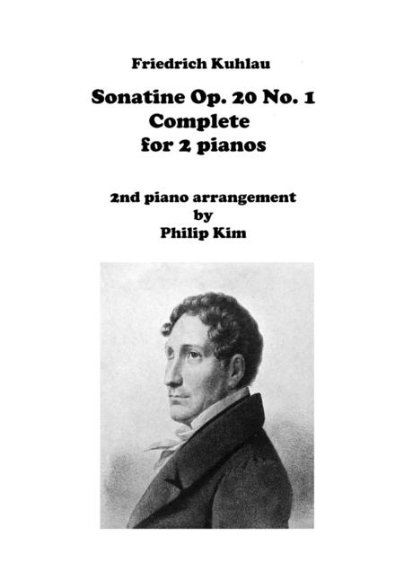 F. Kuhlau Sonatine Op. 20 No. 1 Complete Movements for 2 Pianos