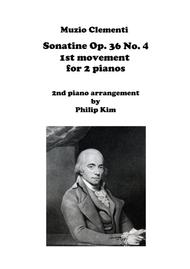Muzio Clementi Sonatine Op. 36 No. 4 First Movement for 2 Pianos