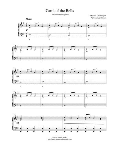 Carol of the Bells - for intermediate piano