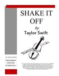 Shake It Off - Cello Solo with Piano Accompaniment