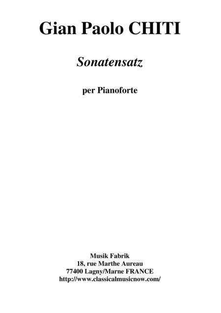 Gian Paolo Chiti: Sonatensatz for piano