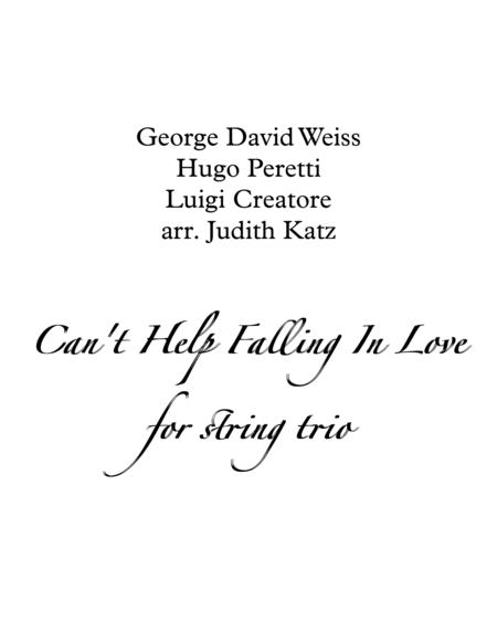 Can't Help Falling In Love - for string trio