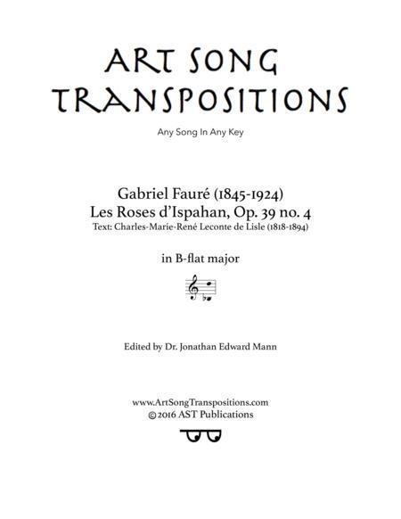 Les roses d'Ispahan, Op. 39 no. 4 (B-flat major)