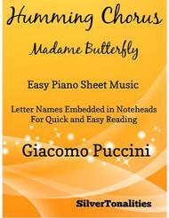 Humming Chorus Easy Piano Sheet Music