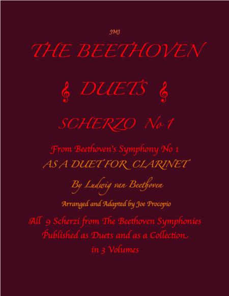 The Beethoven Duets For Clarinet Scherzo No. 1