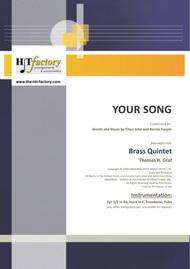 Your Song - Elton John - Brass Quintet