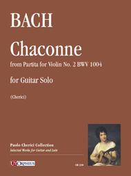 Chaconne (from Partita for Violin No. 2 BWV 1004) for Guitar Solo