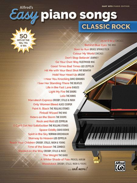 Alfred's Easy Piano Songs -- Classic Rock