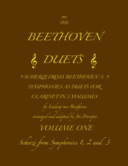The Beethoven Duets For Clarinet Volume 1 Scherzi 1, 2 and 3