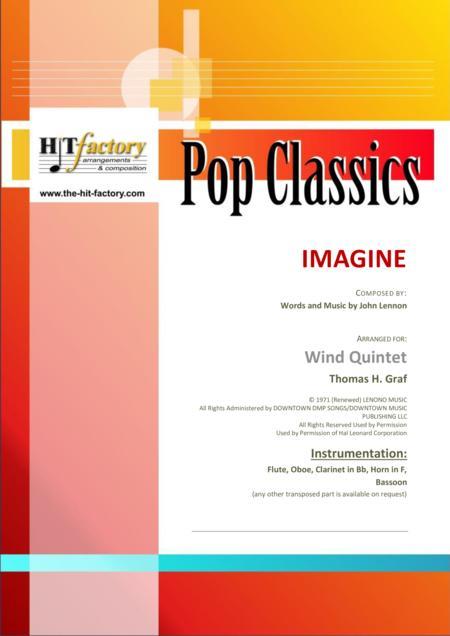 Imagine - John Lennon's Classic  - Wind Quintet