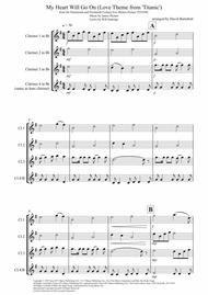 My Heart Will Go On (Love Theme from Titanic) for Clarinet Quartet
