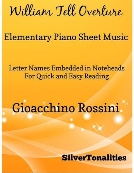 William Tell Overture Elementary Piano Sheet Music