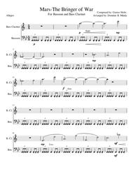 Mars-The Bringer of War, For Bass clarinet and Bassoon.