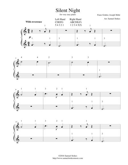 Silent Night - for very easy piano
