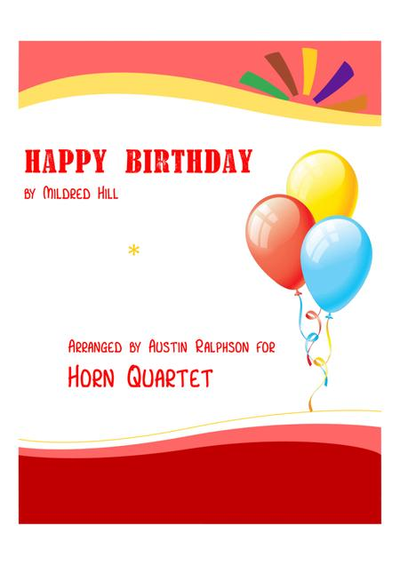 Happy Birthday - horn quartet