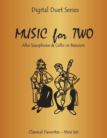 Music for Two - Duets for Alto Saxophone & Cello or Bassoon