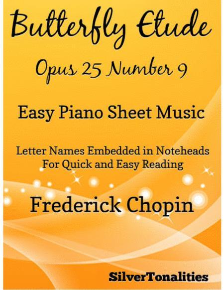 Butterfly Etude Easy Piano Sheet Music