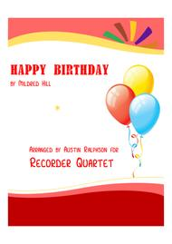 Happy Birthday - recorder quartet