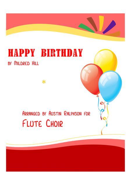 Happy Birthday - flute choir